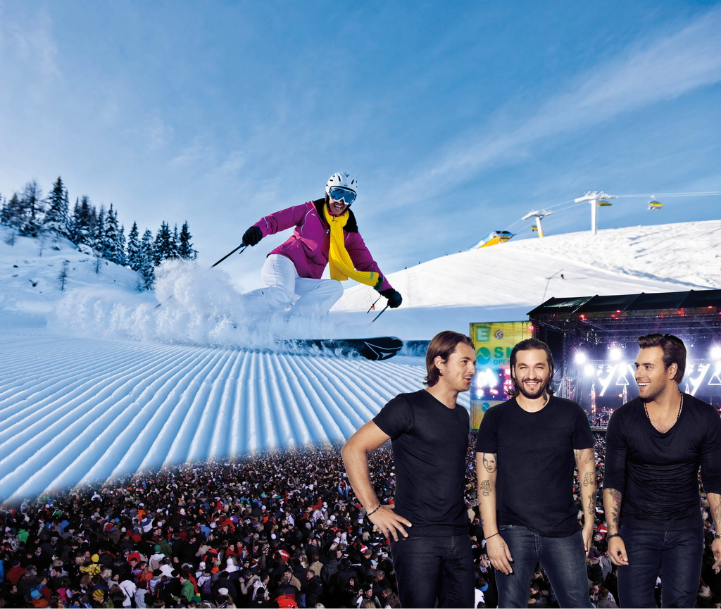 Swedish House Mafia beim Ski Opening
