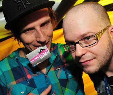 Rapper Skero mit Ilja Kriznik von eventbox.at