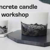 concrete candle workshop